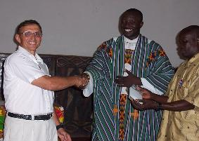Santo Carfora visits friends in Ghana